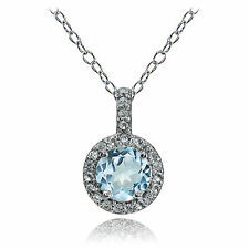 Blue Topaz Sterling Silver Fine Necklaces & Pendants