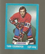 1973 -  74 Topps Hockey Set YVAN COURNOYER Card