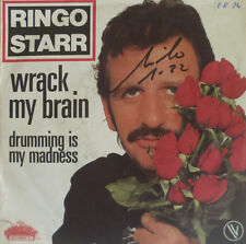 """7"""" 1981 FRENCH PRESS MINT- ! RINGO STARR Wrack My Brain"""