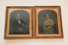 More details for large cased double ambrotype - brother & sister ? c1860s