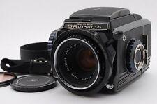 [NEAR MINT] Zenza Bronica S2A Black Late Model 6x6 Camera w/Nikkor-P 75mm f/2.8