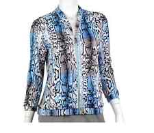 NWT $120 Ep Pro Melbourne Blue Snake Python Print Jacket Golf Tennis Women's M