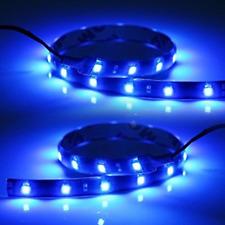"""2x 12"""" Blue 3528 SMD Flexible LED Light Strips for car/truck/suv headlight fog"""