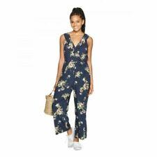 XHILARATION™ Women's Floral Print Flutter Sleeve V-Neck Jumpsuit, Size S/M. NWOT