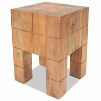 vidaXL Solid Reclaimed Wood Stool Seat Footstool Rest Couch Sofa Side Table