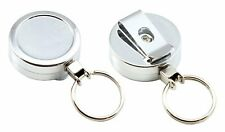 Chrome Retractable Keyring Recoil 60cm Key Ring With Belt Clip for Till