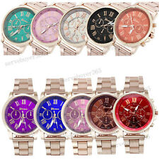 Wholesale 10 Pack Men Women Dress Watch Analog Quartz Wristwatch Gold Steel Band