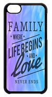 Family Love Quote Pattern Cute Case For Apple iPod 4 5 6 Hard Back Skin Cover