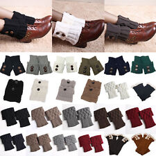 Ladies Winter Warmer Crochet Knitted Socks Ankle Trim Boots Cuffs Toppers Socks