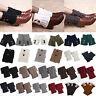 Womens Crochet Knitted Toppers Socks Winter Warmers Trim Leg  Boot Cuffs Gifts