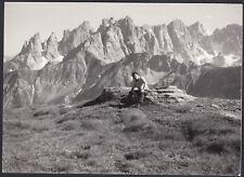 YZ1130 Italia - Luogo da identificare - Dolomiti - Foto d'epoca - 1959 old photo