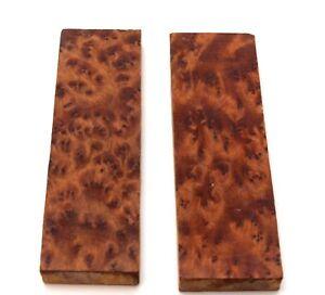 1 Paar Griffschalen für Griffbauer Messerbauer THUIA  Holz