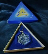 1994 Swarovski Crystal Annual Xmas Star Snowflake Ornament Iob