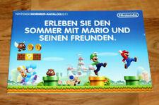 Nintendo Werbe Heft Ad Catalog Zelda Street Fighter Mario Donkey Kong Country