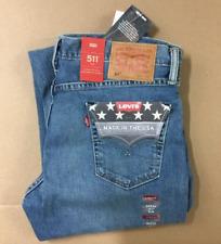 Authentic Genuine Levi's 511 WHITE OAK DENIM Slim Fit Jeans MADE IN USA 34 - 36