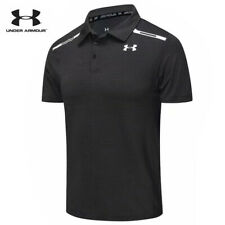 Under Armour Playoff Mens Golf Polo Shirt Grey Short Sleeve Casual Shirts