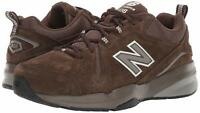 New Balance Mens MX608 Low Top Lace Up Walking, Chocolate Brown/White, Size 7.0