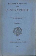 Règlement d'Instruction pour l'Infanterie Traduction du règlement Allemand 1925