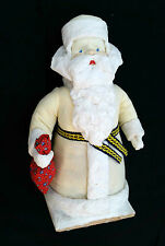 1985 USSR Russian BIG Size DED MOROZ Santa Claus COTTON Christmas Figure in Box