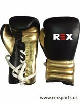 Black Gold Leather Custom logo Boxing Gloves for Training,Sparring & Competition