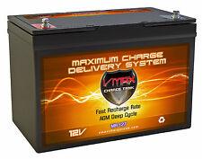 VMAX MR127 12V 100Ah AGM SLA Battery fits Minn Kota Trolling Motor Power Center