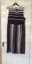Monochrome Stripe Dress Black And White BNWT Top Shop