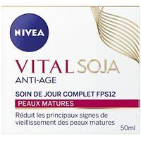 Soin de Jour Anti-Age Peaux Matures SPF15 Vital Soja  NIVEA 50ml Pot /EBBO