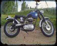 Ajs Model 14 250 58 04 A4 Metal Sign Motorbike Vintage Aged