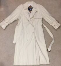 Vintage Burberry Women's Double Breasted Trench Jacket Long Coat, Petite 6