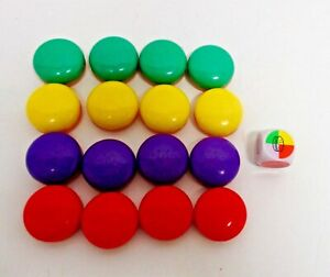 POP THE PIG GAME 16 HAMBURGER PIECES COMPLETE SET REPLACEMENT AND DICE FREE SHIP