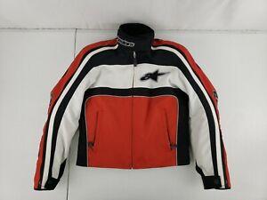 Alpinestars STELLA Armored Padded Motorcycle Jacket Womens Sz XS Red Black White