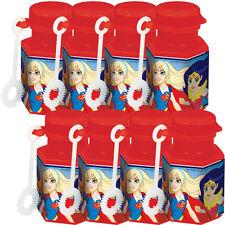 DC SUPER HERO GIRLS MINI BUBBLES (8) ~ Birthday Party Supplies Favors Toys Comic