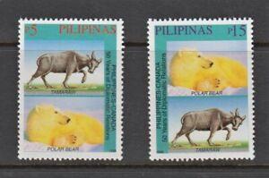 Philippine Stamps 1999 Polar Bear & Tamaraw (RP-Canada 50th Ann. Of Diplomatic R