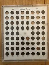Lincoln Cent  Collection 1934-1958 Capital Holder with coins