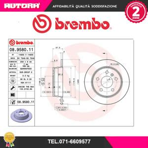 08958011 Coppia disco freno post adat.Mercedes Benz (MARCA-BREMBO)