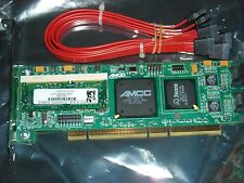 3Ware 9500S-4LP 4Port SATA PCIx RAID Controller 128MB with Cables New