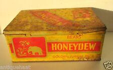 Vintage Old Bears' Honeydew Cigarette Golden Jubilee Pack Ad Print Litho Tin Box