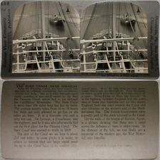 Keystone Stereoview of Ships in the Suez Canal, EGYPT From the 600/1200 Card Set