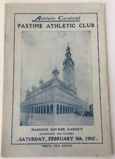 1907 Athletic Carnival Pastime Athletic Club Madison Square Garden