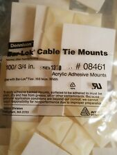 200  Cable Tie Mounts Self ADHESIVE Clips Base -3/4 Inch Premium Grade