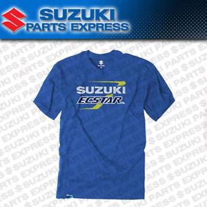 NEW GENUINE SUZUKI BLUE TEAM SUZUKI ROADRACE T-SHIRT ECSTAR RACING 990A0-16276