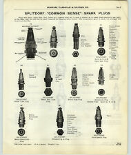 1917 PAPER AD Splitdorf Common Sense Spark Plug Champion X O Heavy Duty