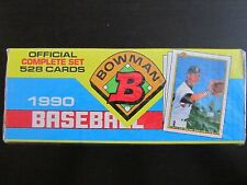 1990 Bowman Complete Baseball Card Set Factory Sealed, 528 cards