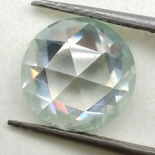 Rose Cut Loose Moissanite For Ring / Pendant 0.75 Ct 5.73 Mm Vs1 Off White Round