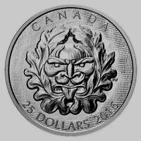 2016 Canada $25 Dollars 9999 silver coin Grotesque Horned Green Man proof