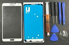 White Front Outer Lens Screen Glass Replacement Samsung Galaxy Note 3 Uv Glue