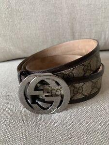 Autentica Originale Cinta Cintura Belt GUCCI GG 90 36