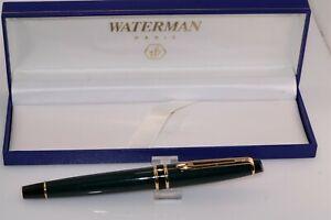 Waterman Blue Green Marble Body Roller Ball Pen w Box