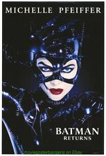 BATMAN RETURNS MOVIE POSTER Original Mini-Sheet CATWOMAN Style MICHELLE PFEIFFER