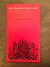 Royal Opera House Covent Garden Programme Tristan Und Isolde Sat Eve 27 Jan 1973